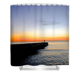 Contemplating The Meaning Of Life Shower Curtain by Margie Amberge