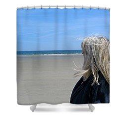 Contemplating The Stillness Shower Curtain