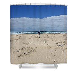 Contemplation Shower Curtain by Elaine Teague
