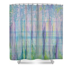 Contemplation - Painting Shower Curtain by Veronica Rickard