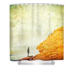 Contemplation Point Shower Curtain by Edward Fielding