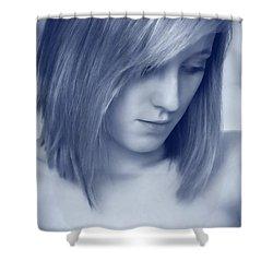 Contemplative Shower Curtain by Amanda Elwell