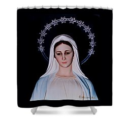 Contemplative Our Lady Queen Of Peace  Shower Curtain