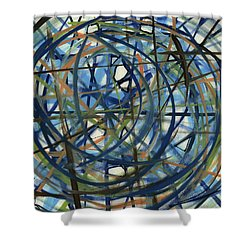 Contemporary Art Seventeen Shower Curtain