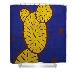 Contemporary Cactus Shower Curtain