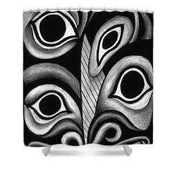 contemporary fantasy art - Eyes in the Woods Shower Curtain