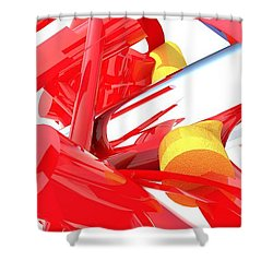 Contemporary Vector Art 1 Shower Curtain by Corporate Art Task Force