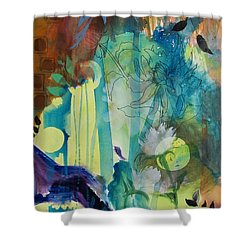 Shower Curtain featuring the painting Continuum by Robin Maria Pedrero