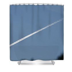 Contrail Shower Curtain