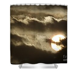 Contrast Shower Curtain by Clare Bevan
