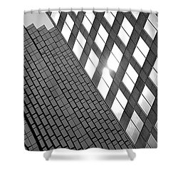 Contrasting Architecture Shower Curtain