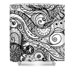 Controlled Chaos Shower Curtain by Shawna Rowe
