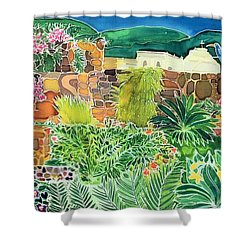 Convent Gardens Antigua Shower Curtain by Hilary Simon