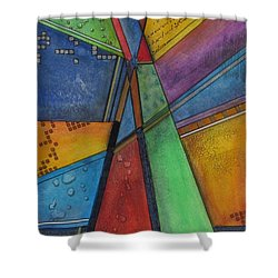 Shower Curtain featuring the painting Convergence by Nicole Nadeau