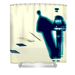 Conversations With The Postman Shower Curtain by Bob Orsillo