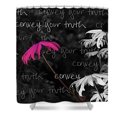 Shower Curtain featuring the photograph Convey Your Truth by Lauren Radke