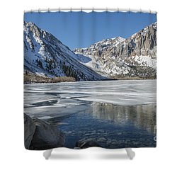 Convict Lake Morning Shower Curtain by Sandra Bronstein