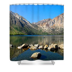 Convict Lake Panorama Shower Curtain