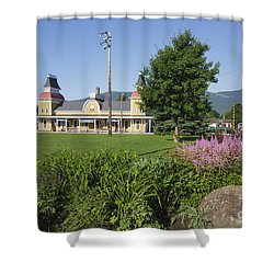 Conway Scenic Railroad - North Conway New Hampshire Usa Shower Curtain by Erin Paul Donovan