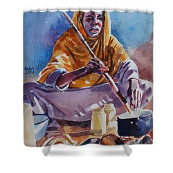 Cooking Morning Shower Curtain by Mohamed Fadul