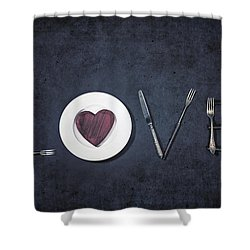 Cooking With Love Shower Curtain by Joana Kruse