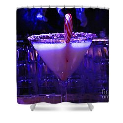Cool Blue Cocktail Shower Curtain by Kym Backland