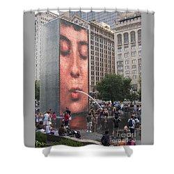 Cool Crowd Shower Curtain by Ann Horn