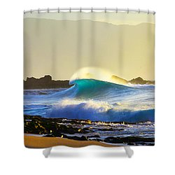 Cool Curl Shower Curtain by Sean Davey