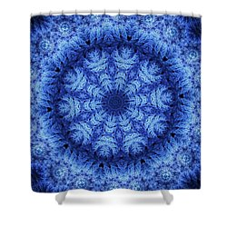Shower Curtain featuring the digital art Cool Down Series #1 Snowflake by Lilia D