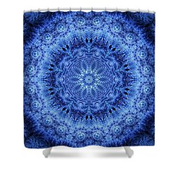 Shower Curtain featuring the digital art Cool Down Series #2 Frozen by Lilia D