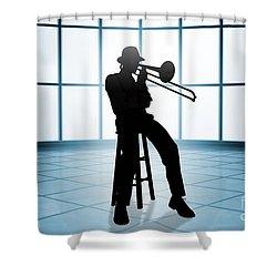 Cool Jazz 1 Shower Curtain by Bedros Awak