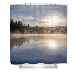 Cool November Morning Shower Curtain