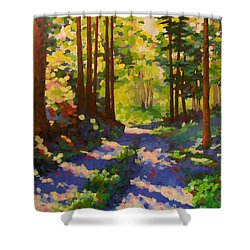Cool Of The Shade Shower Curtain by Mary McInnis