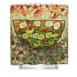 Cool Summer Salad Shower Curtain by Jen Norton