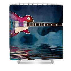 Cool Tiedye Les Paul Shower Curtain