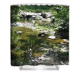 Shower Curtain featuring the photograph Cool Waters by Ellen Levinson