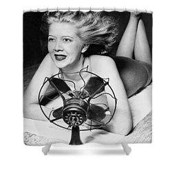 Cooling Fan For Hot Spell Shower Curtain by Joe Denarie