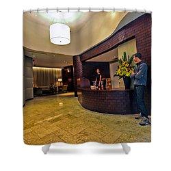 Cooper Lobby Shower Curtain by Steve Sahm
