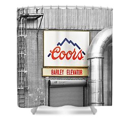 Coors Barley Elevator Bw Color Shower Curtain by James BO  Insogna