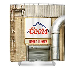 Coors Barley Elevator  Shower Curtain by James BO  Insogna