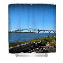 Coos Bay Bridge Shower Curtain