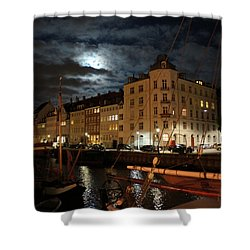 Copenhagen At Night Shower Curtain