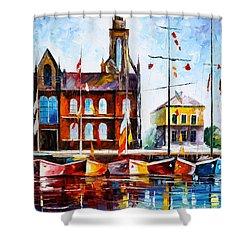 Copenhagen Denmark 3 Shower Curtain by Leonid Afremov