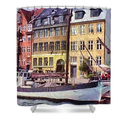 Copenhagen Shower Curtain by Jeffrey Kolker