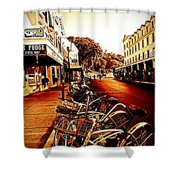 Copper And Rust Shower Curtain
