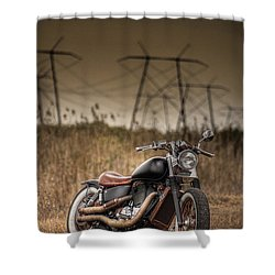 Copper Chopper Shower Curtain