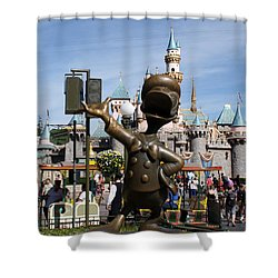 Copper Donald Shower Curtain by David Nicholls
