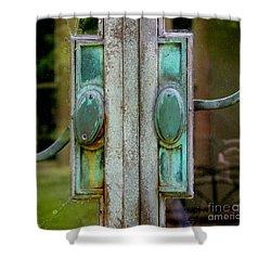 Copper Doorknobs Shower Curtain