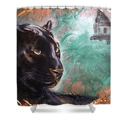 Copper Jaguar Shower Curtain
