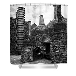 Copper Pot Stills And Column Still At Lockes Distillery Bw Shower Curtain